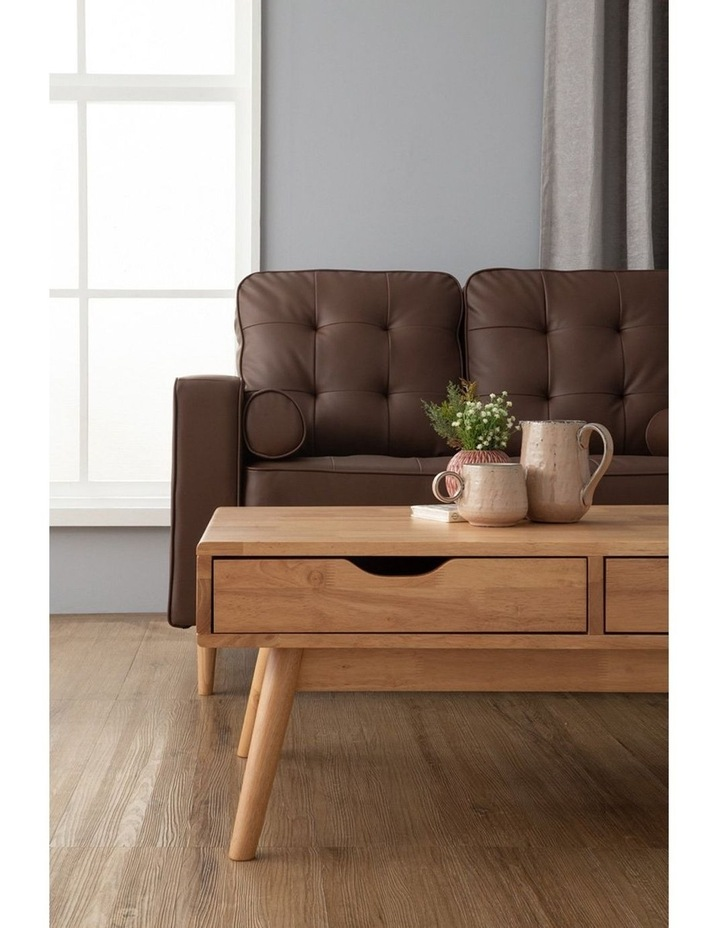 Lamar Coffee Table With 2 Drawers 106cm - Natural image 3