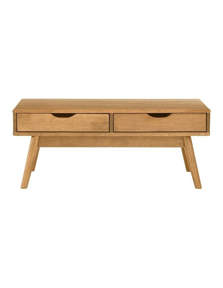 Lamar Coffee Table With 2 Drawers 106cm - Natural image 4