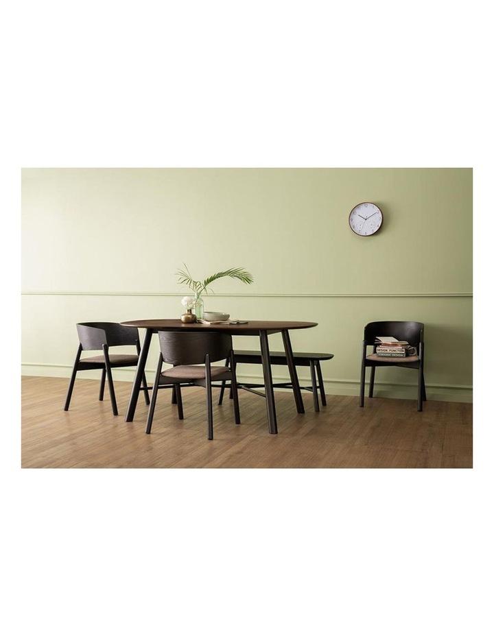 Harold Dining Table 160cm - Black & Walnut image 2