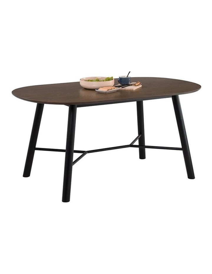 Harold Dining Table 160cm - Black & Walnut image 5
