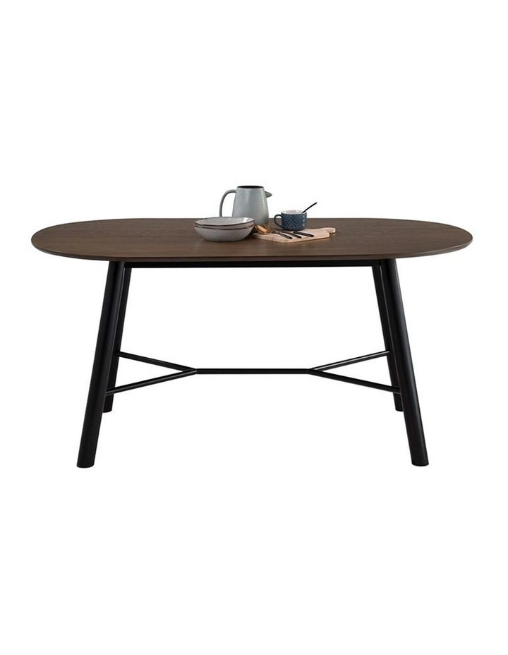 Harold Dining Table 160cm - Black & Walnut image 6