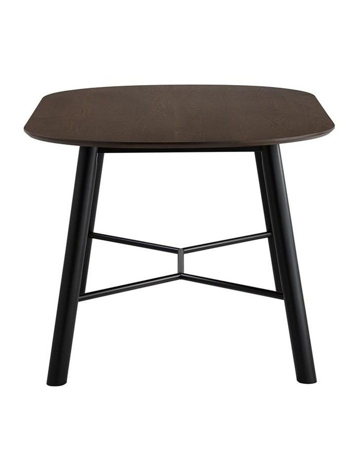 Harold Dining Table 160cm - Black & Walnut image 7