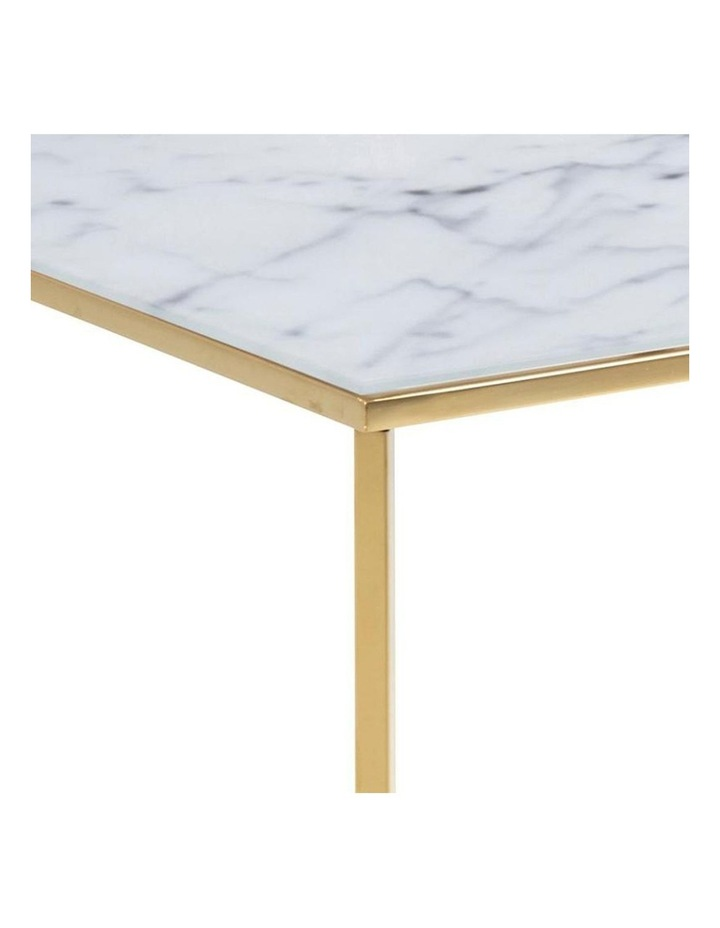Kolina Glass Coffee Table 80cm - White & Golden Chrome image 4