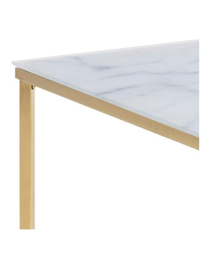 Kolina Glass Coffee Table 80cm - White & Golden Chrome image 6