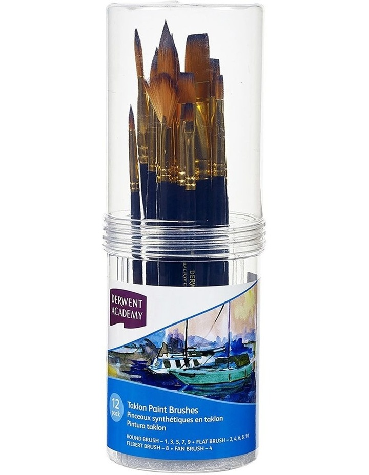 12pc Academy Taklon Paint Brushes - Small image 1