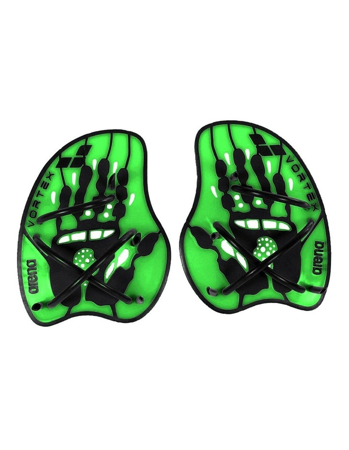 Large Vortex Evolution Hand Paddle for Swimming - Lime Green image 1