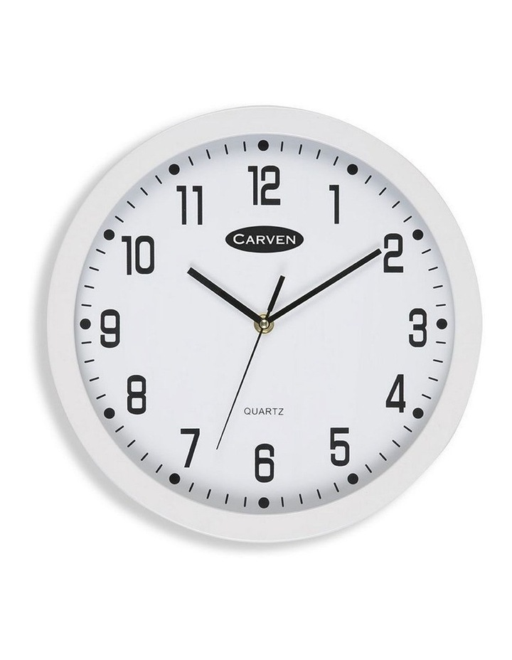 30cm Round White Wall Clock image 1