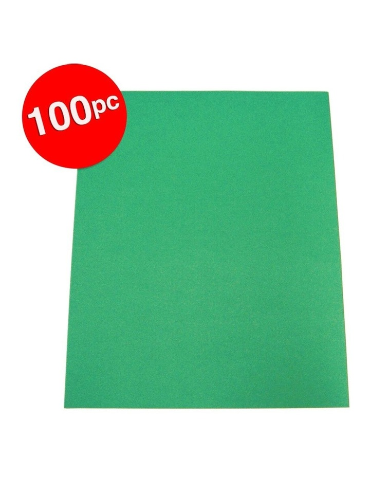 100pc ColourfulDays A4 Colour Board 160gsm Emerald Green Sheets image 2