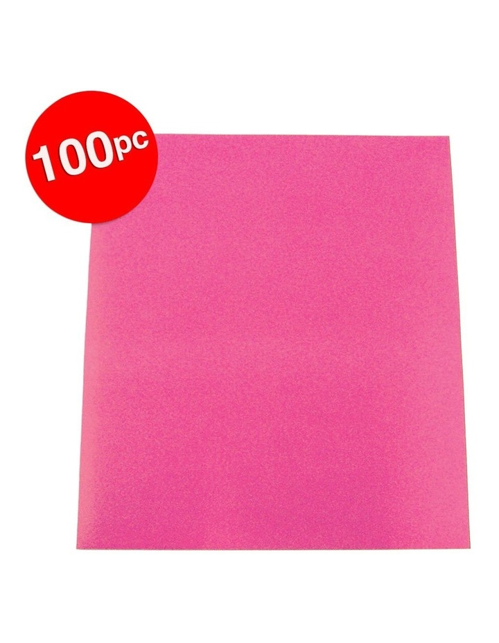 100pc ColourfulDays A4 Colour Board 160gsm Hot Pink Sheets image 2