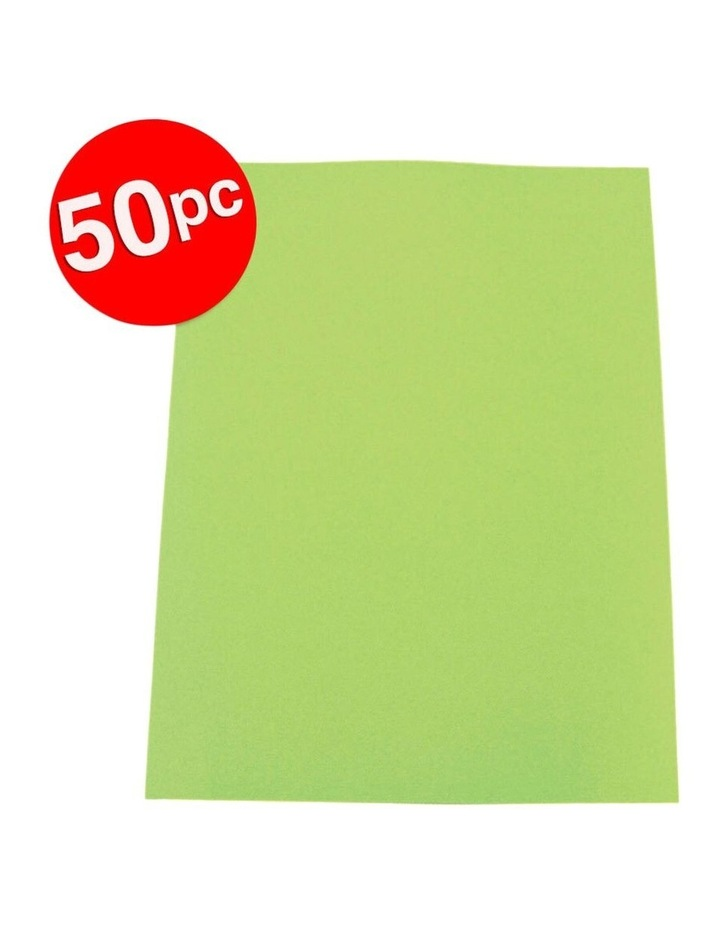 50PK Colourful Days A3 Colour Board Sheets 200gsm Lime Green image 2