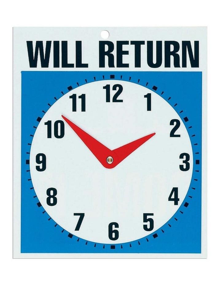 2PK Open Come In & Will Return w/ Clock - 19 x 23cm image 1