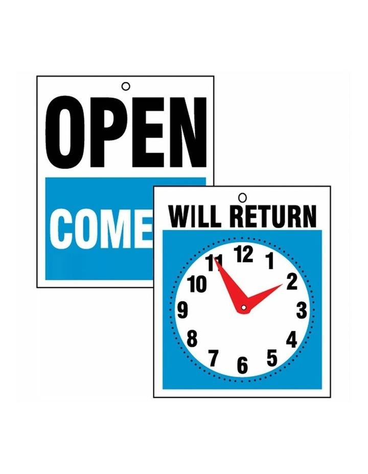 2PK Open Come In & Will Return w/ Clock - 19 x 23cm image 2