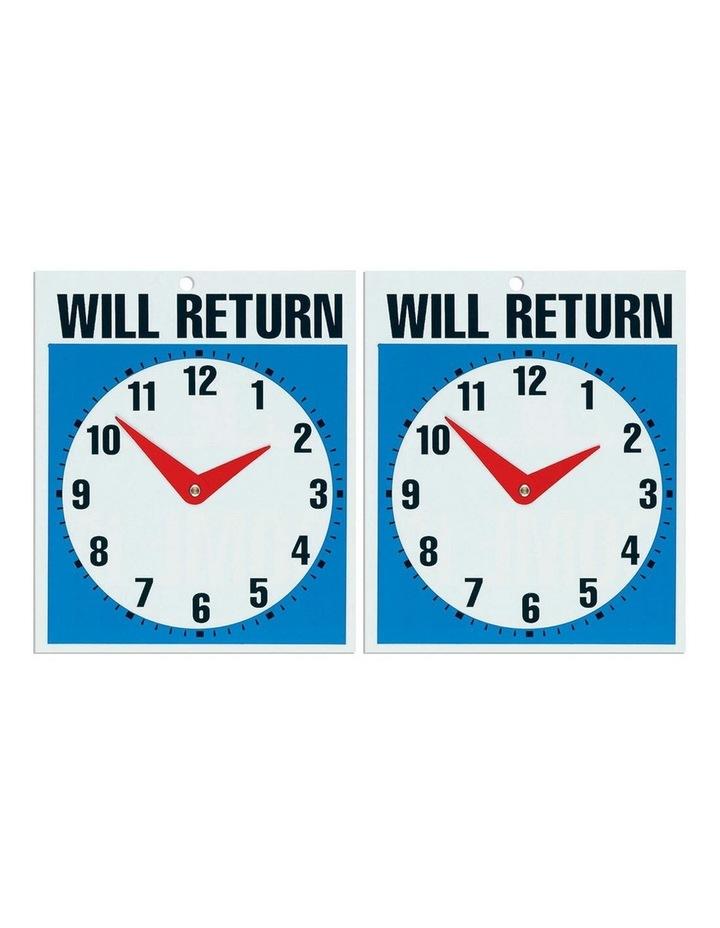 2PK Open Come In & Will Return w/ Clock - 19 x 23cm image 3