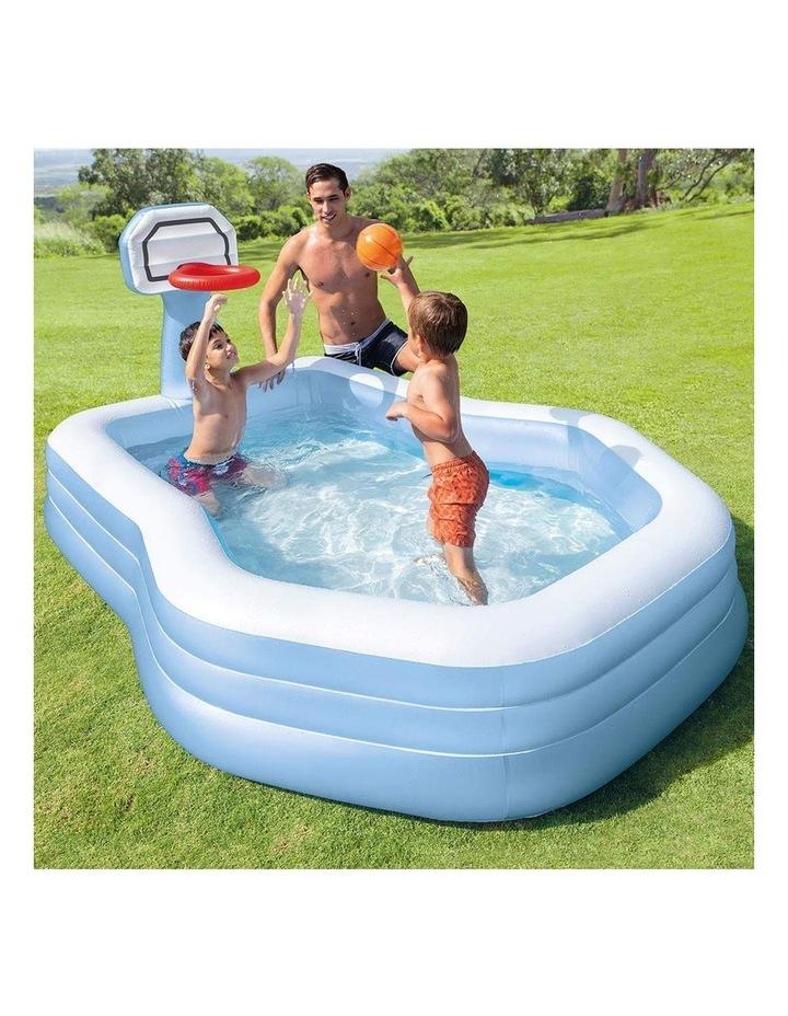 257cm Inflatable Swim Center Shootin' Hoops Family Pool image 2