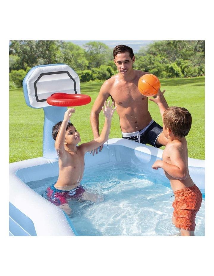 257cm Inflatable Swim Center Shootin' Hoops Family Pool image 3