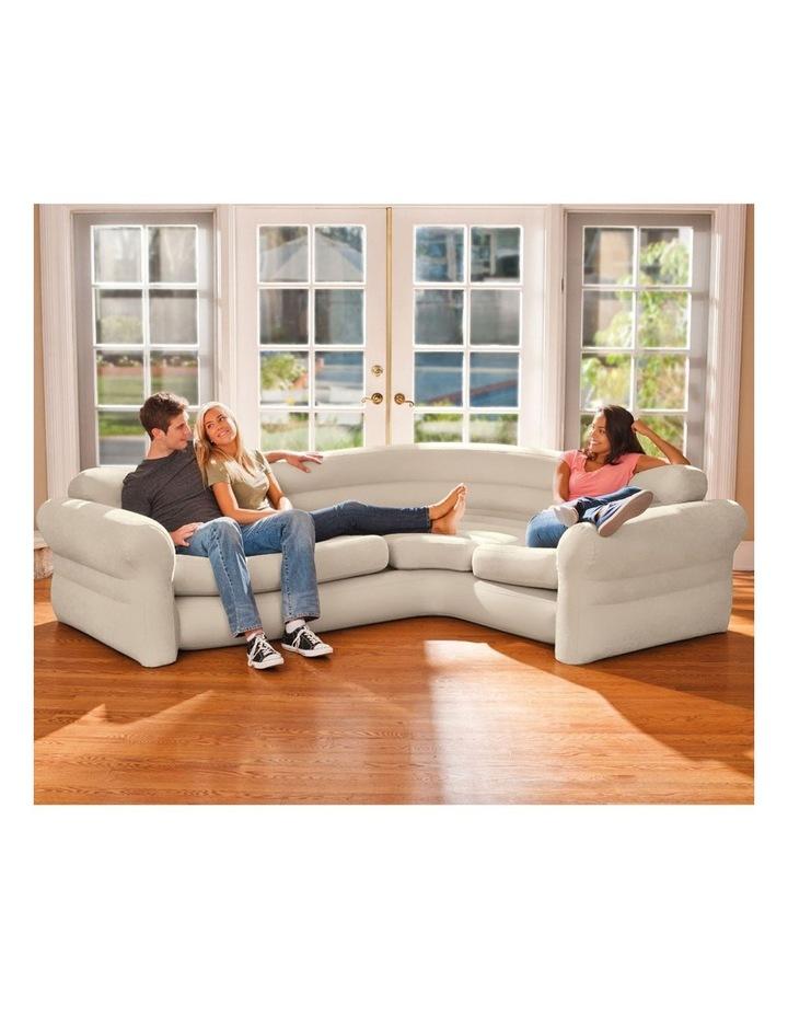 Inflatable Furniture 257x 203x 76cm Corner Sofa Beige image 1