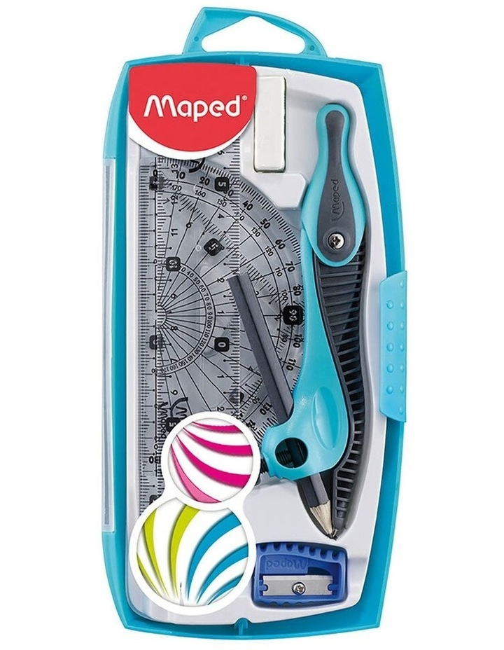 Maped Study Maths Set 8 Piece Measuring Graphics Kit Assorted Colour image 1