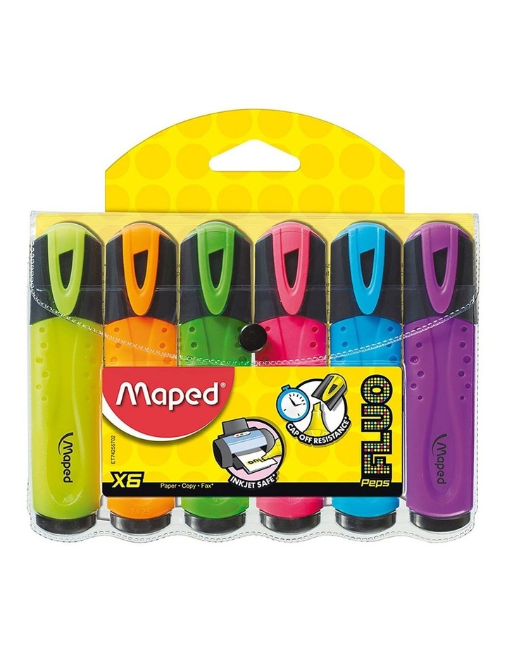 2x 6pc Maped Highlighter Wallet Assorted Colours image 1