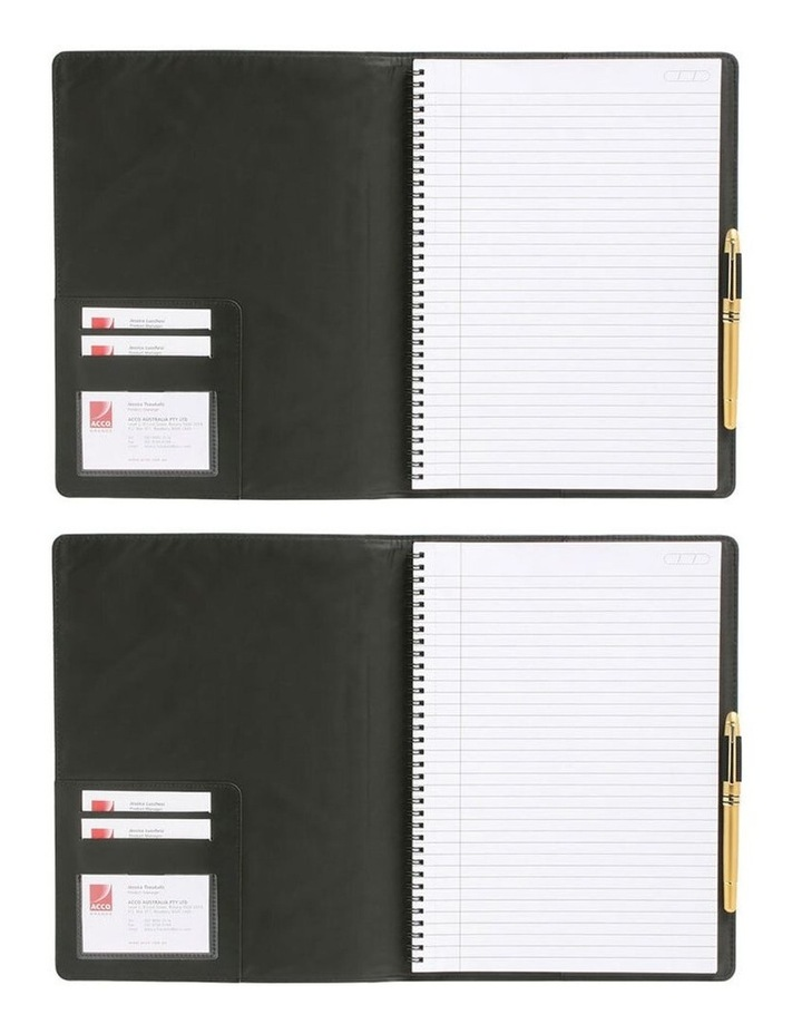 2PK Cambridge Mead A5 Business Notebook 100 Pages Black image 2
