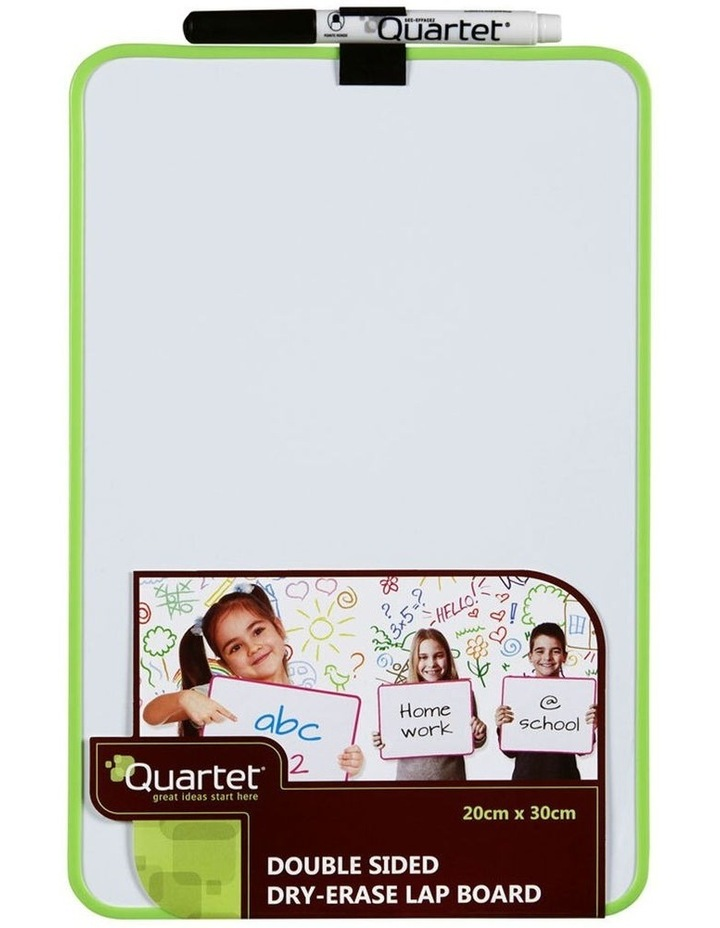2 Pack Double Sided Magnetic Dry Erase Lap Board - Assorted Colour image 1