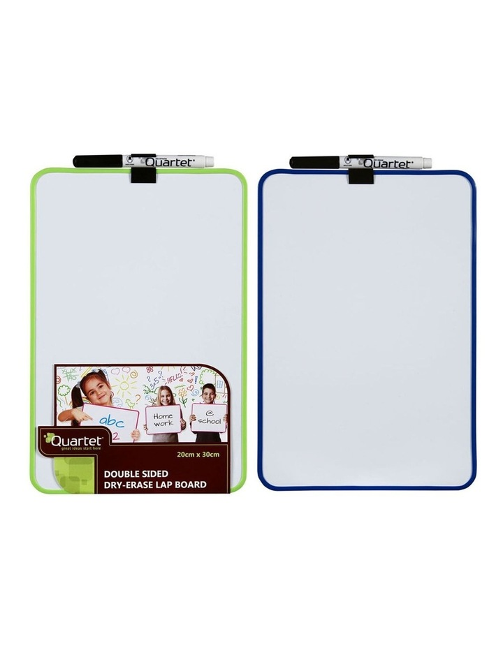 2 Pack Double Sided Magnetic Dry Erase Lap Board - Assorted Colour image 4