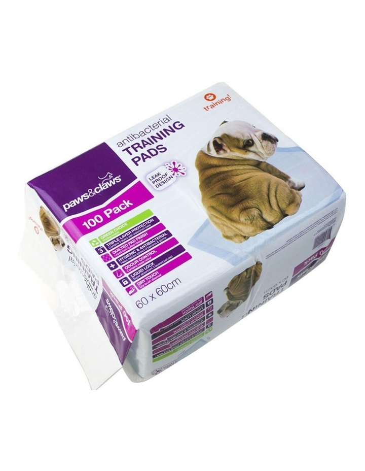 100PK Paws & Claws Antibacterial Training Pads 60x60cm image 2