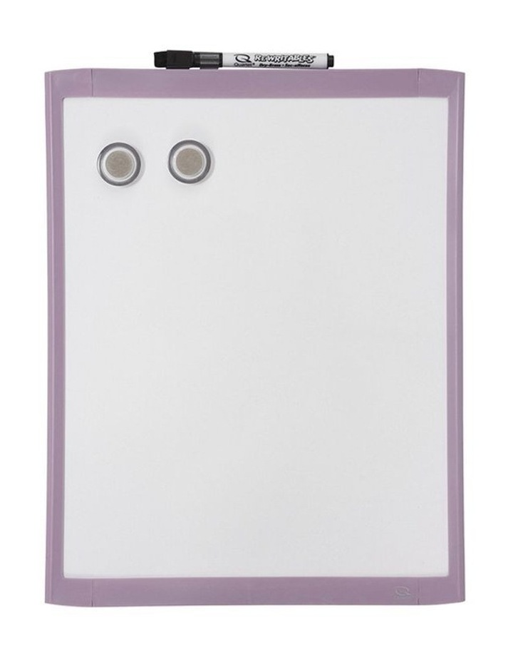 28X36Cm Purple Wall Mountable Magnetic Whiteboard/Picture Frame W/Marker/Magnet image 1