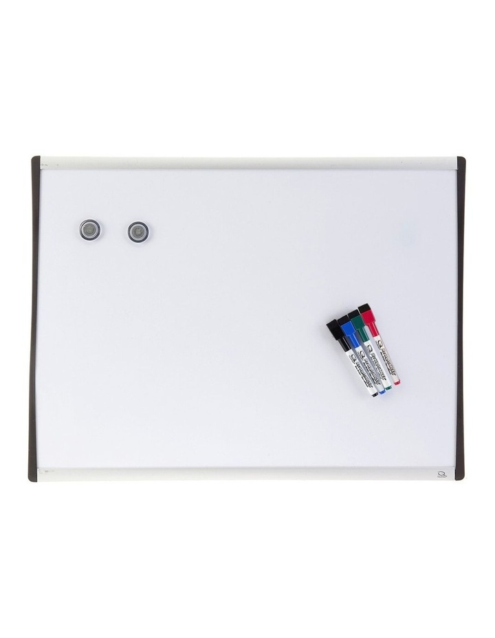 61X46Cm Wall Mountable Magnetic Whiteboard/Aluminium Frame/4X Markers/2X Magnets image 1