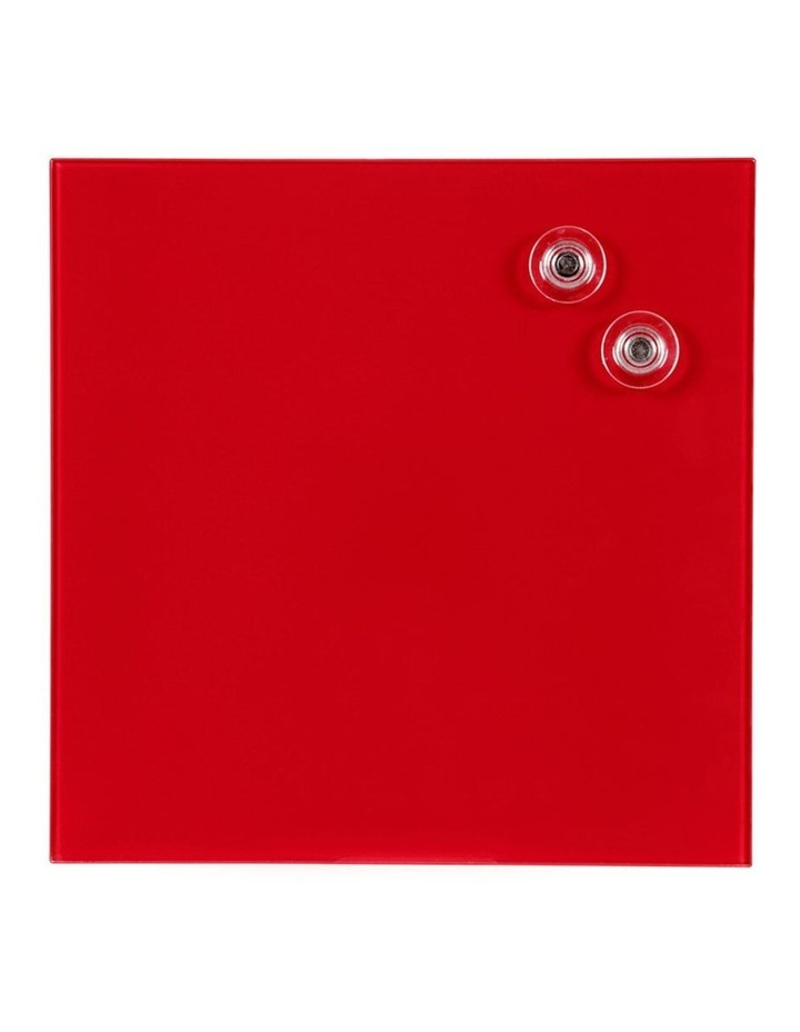 2PK  Glass Board 300x300mm Red image 1