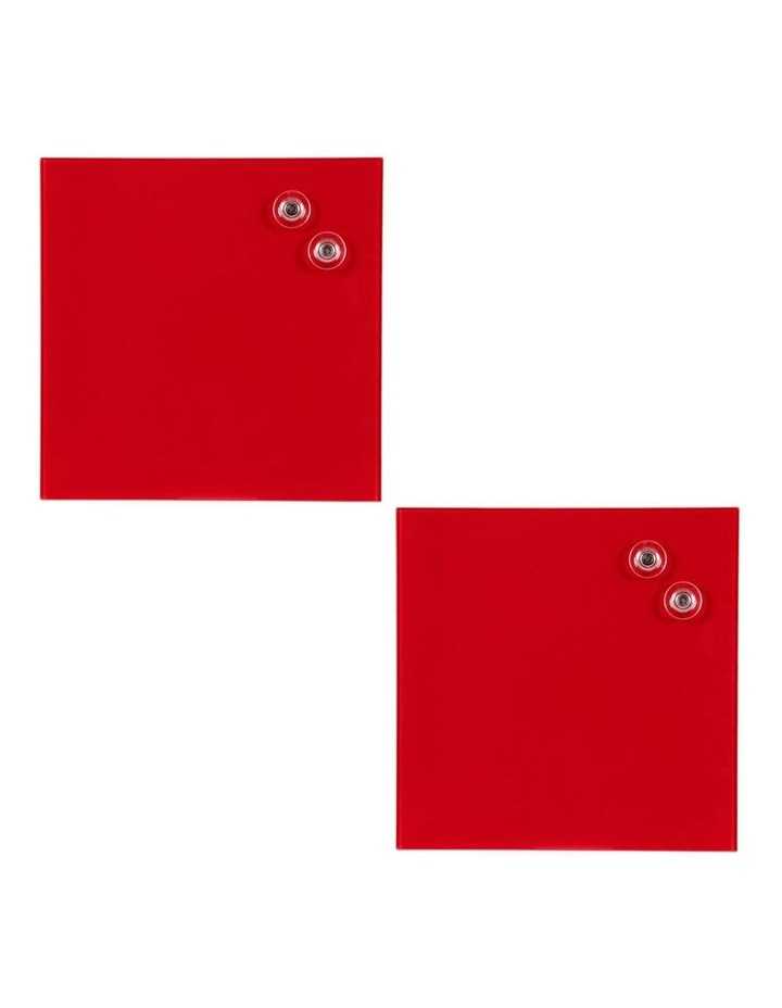 2PK  Glass Board 300x300mm Red image 2