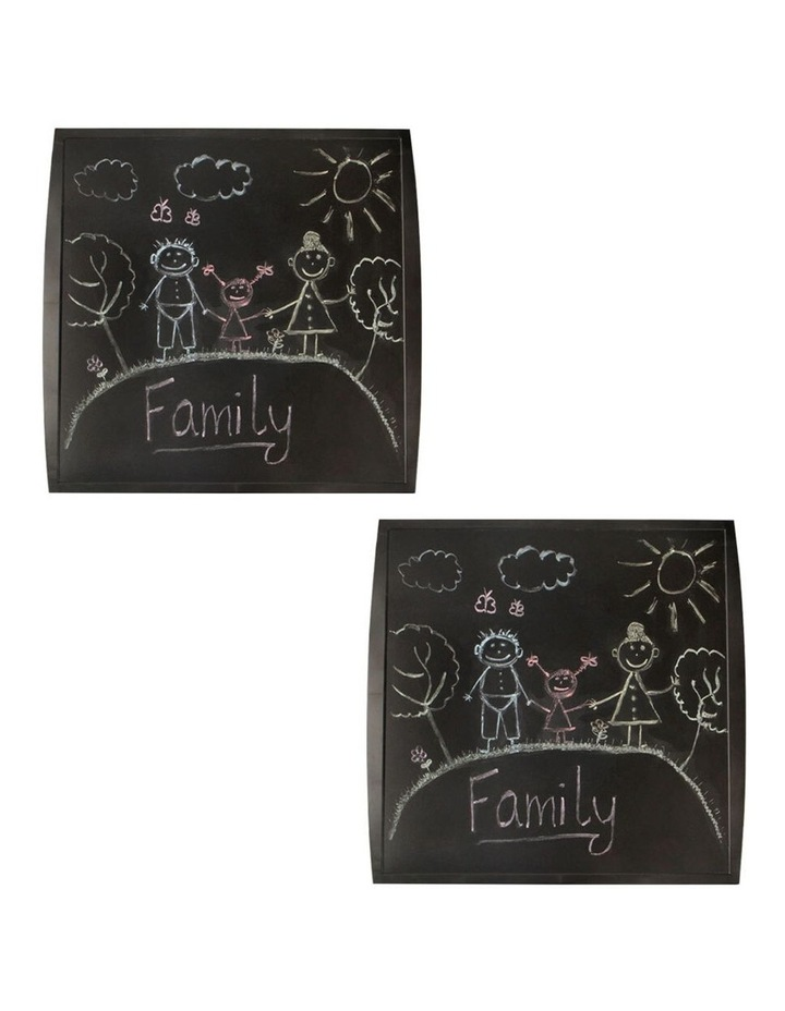 2 Pack Quartet Chalkboard Basic 350x350mm Black image 3