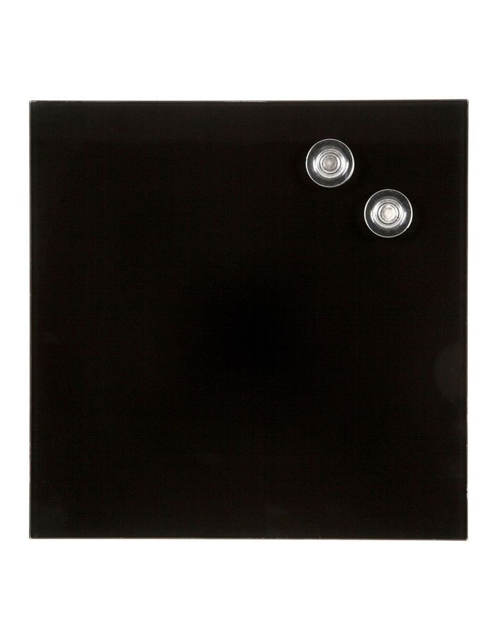 2PK Quartet Glass Board 300x300mm Black image 1