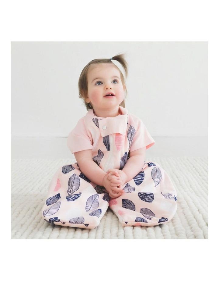 Sleep Suit Bag Size: 2-12 Months TOG: 1 - Pink Leaf image 2