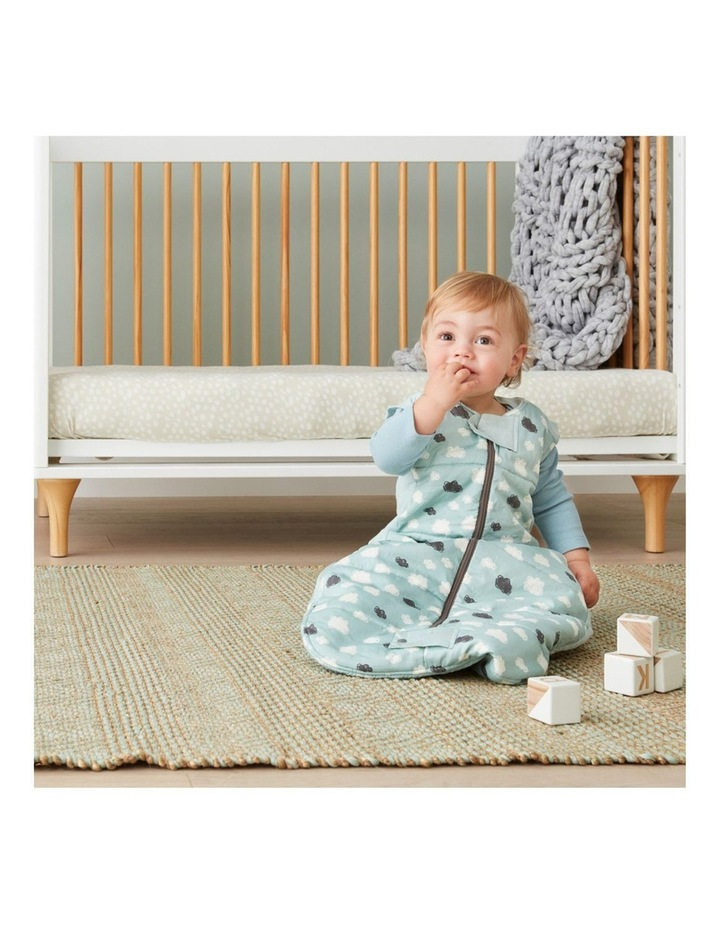 Sheeting Sleeping Bag: 2-12 Months - 3.5 TOG - Mint Clouds image 4