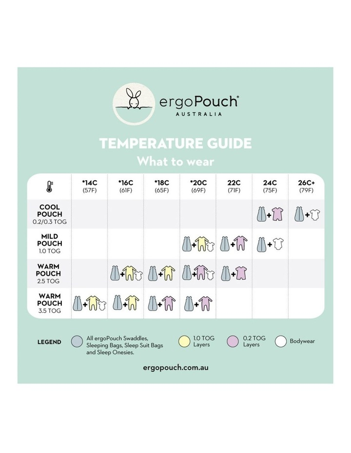 Sheeting Sleeping Bag: 2-12 Months - 2.5 TOG - Pebble image 5
