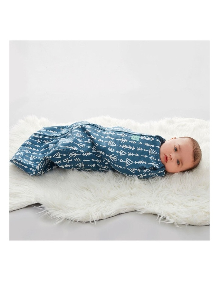 Cocoon Swaddle Bag: 0-3 Months - 1.0 TOG - Midnight Arrows image 5