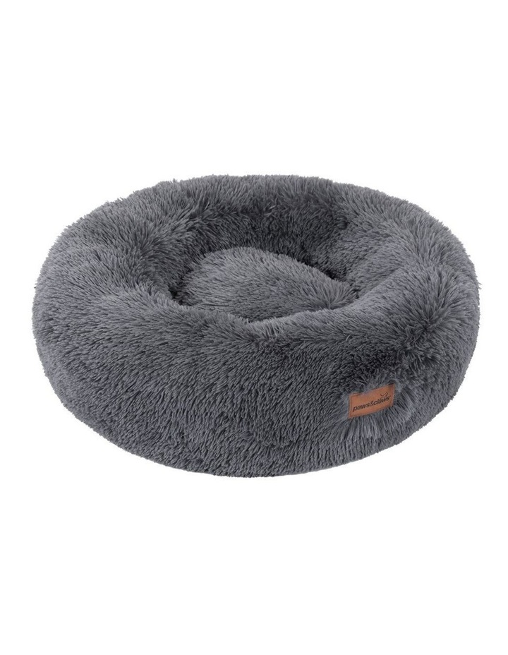70cm x 70cm Large Calming Plush Bed - Grey image 1