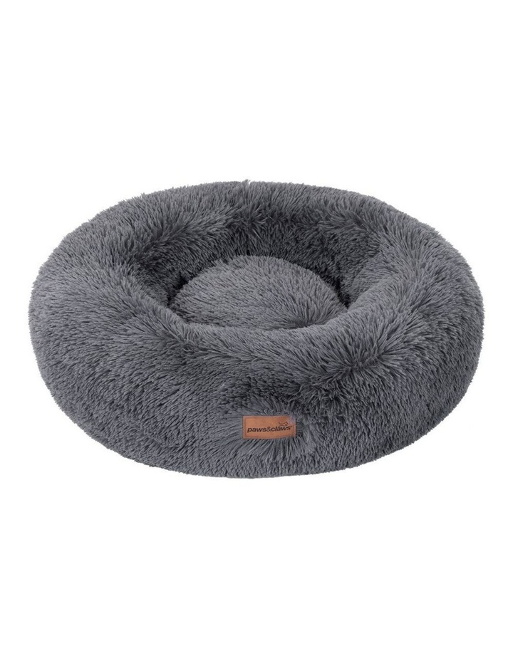70cm x 70cm Large Calming Plush Bed - Grey image 2