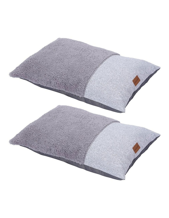 65cm x 45cm Small Primo Pillow Pet Bed - Ash Grey image 1