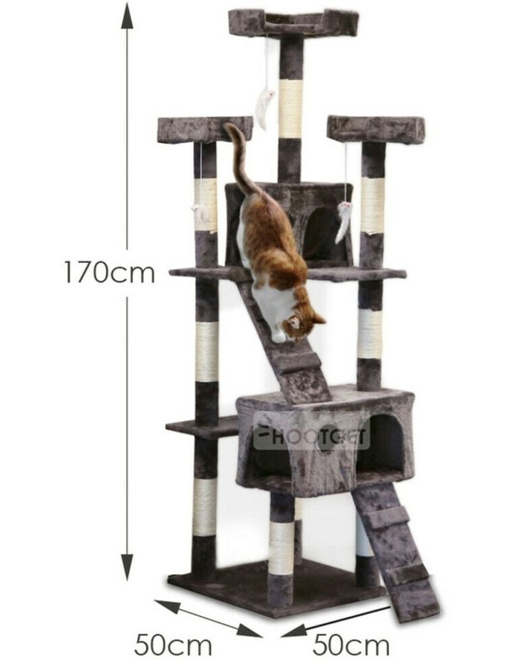1.7M Giant Cat Tree Play House image 2