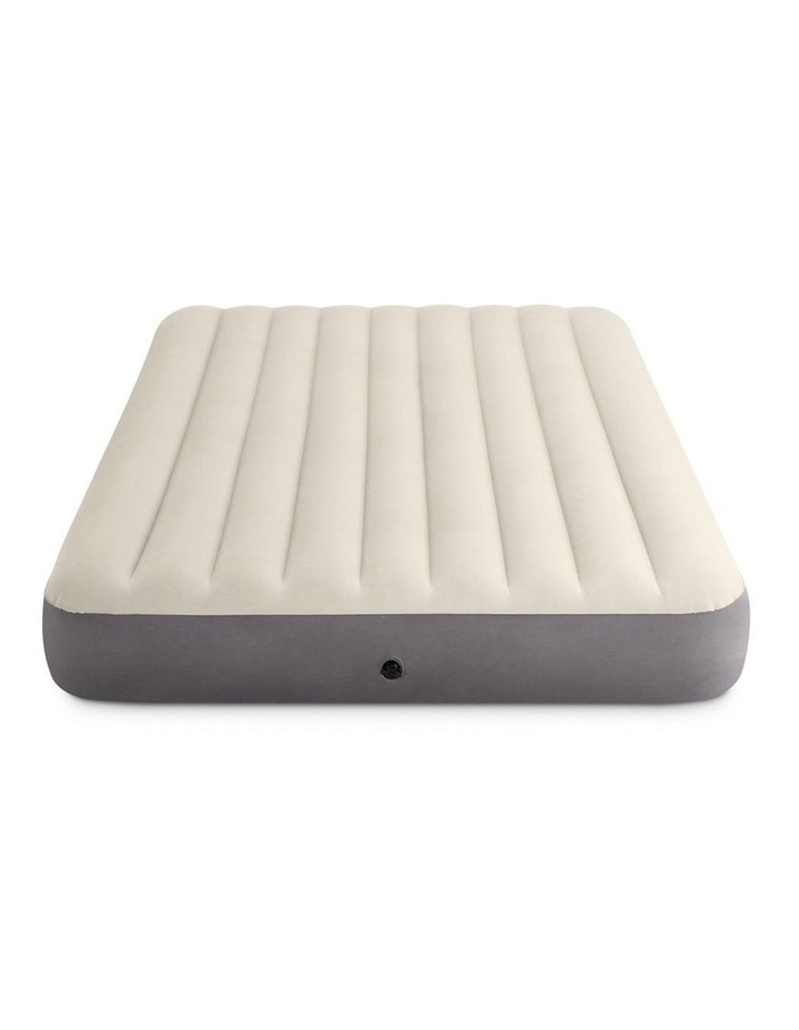 Dura-Beam Deluxe Single High Airbed - Queen Beige image 1