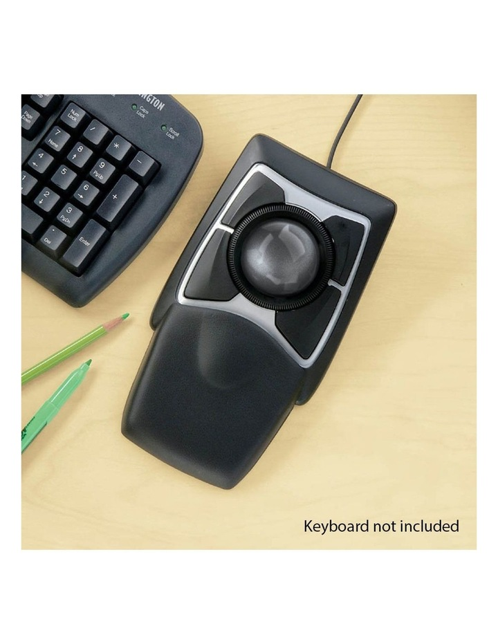 Expert Mouse Wired Trackball w/Scroll Ring & Large Ball/Wrist Rest image 5
