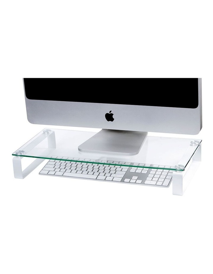 60cm Glass Monitor Stand with Legs image 1