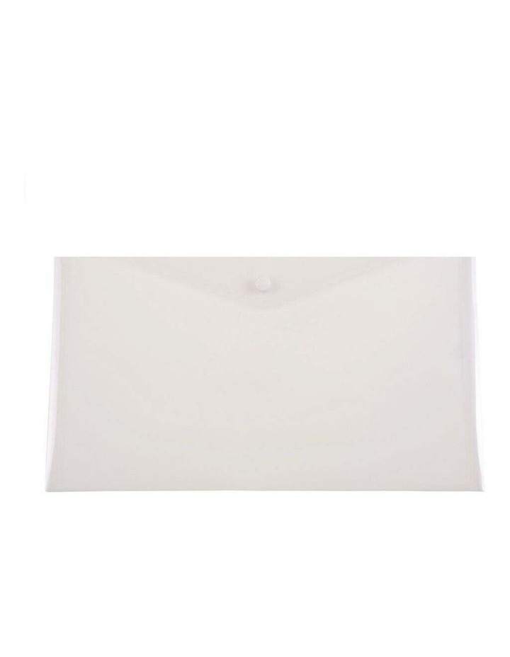 10PK Cumberland A4 Document Wallet - Clear image 1