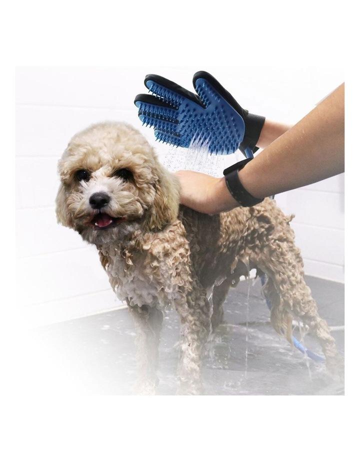 2 in 1 Pet Bathing Massage Glove - Spray & Brush image 2