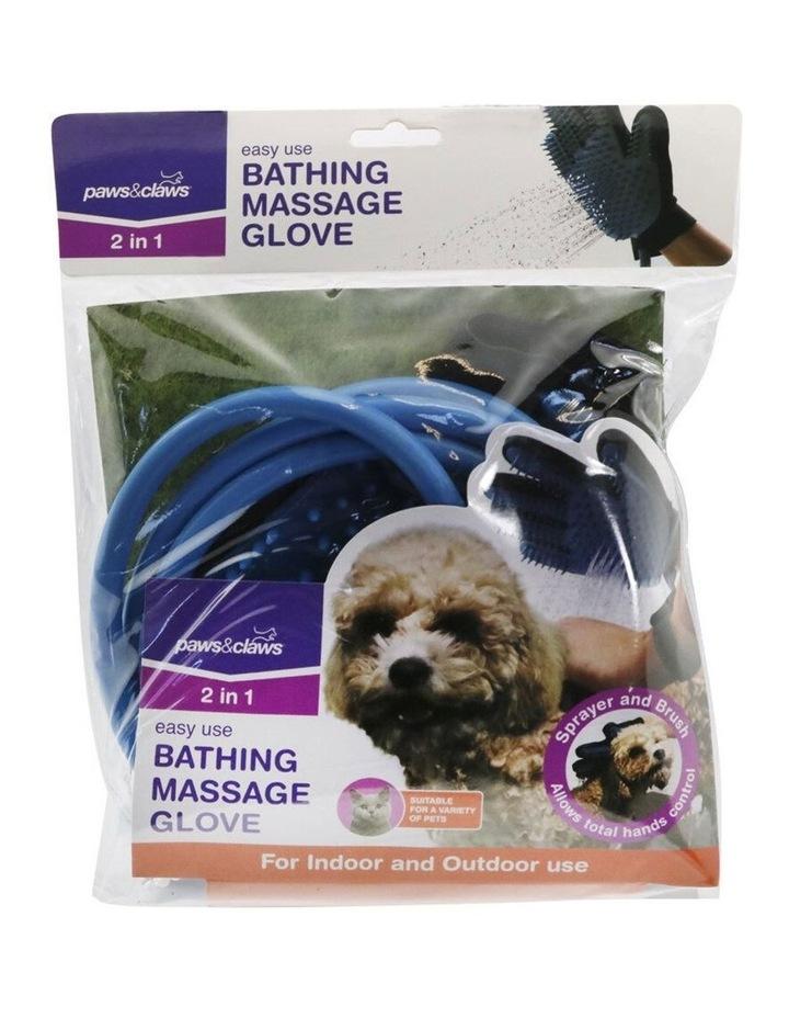 2 in 1 Pet Bathing Massage Glove - Spray & Brush image 4