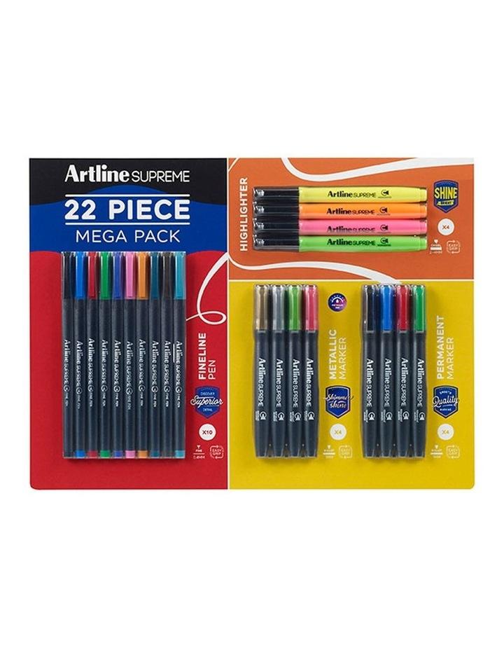22pc Supreme Pen/Marker/Highlighter Mega Pack image 1