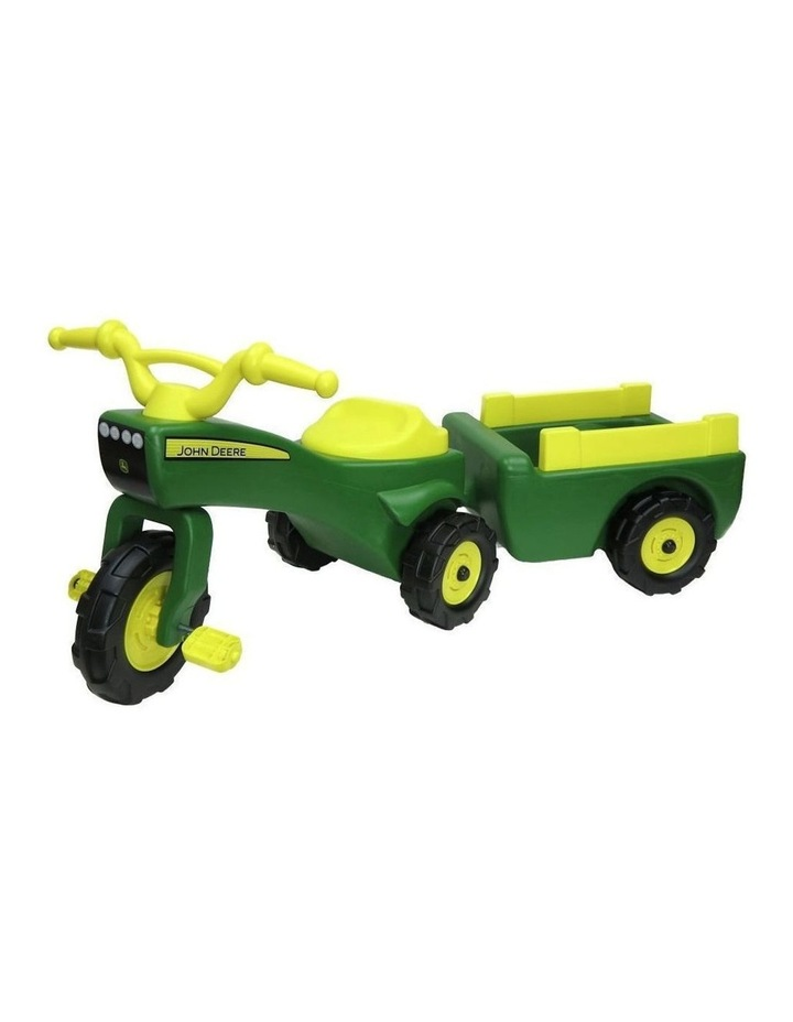 Ride On Pedal Trike Tractor & Pull Wagon Kids Children Toy Tricycle image 1