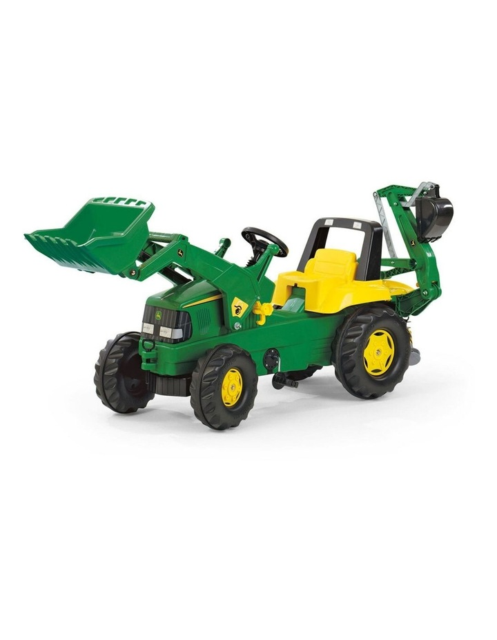 Ride-On Tractor Toy with Loader & Excavator image 1