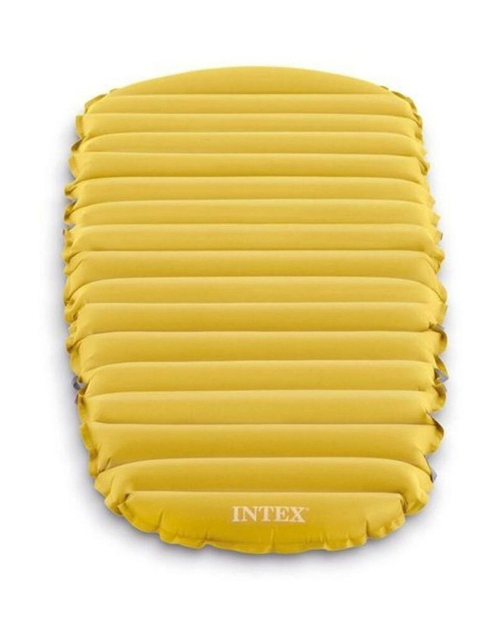 Inflatable 183cm Single Size Camping Mattress in Yellow image 2